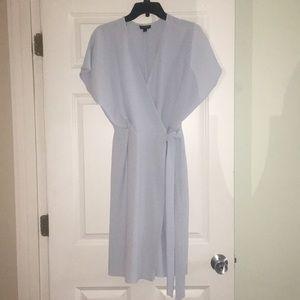 Topshop wrap dress. Light blue